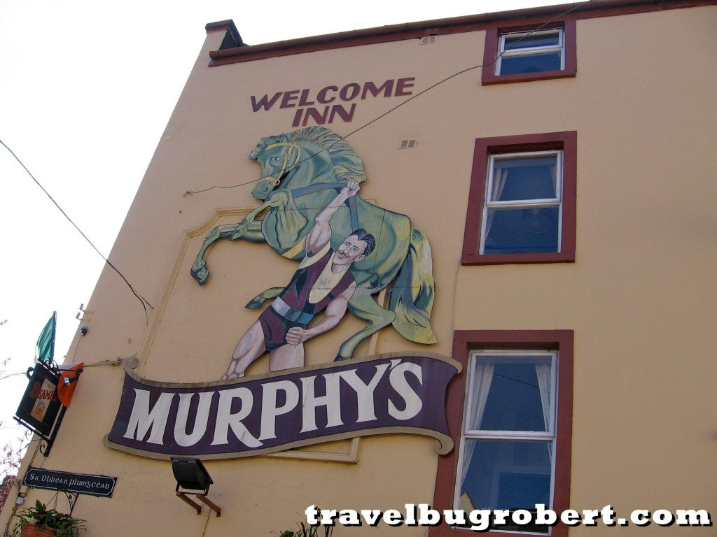 Murphy's beer ad in Cork, Ireland